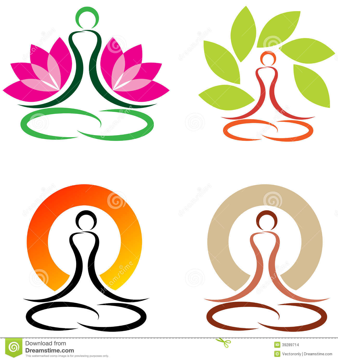 Arte Logo Eps Yoga Stock Vector Image 39289714