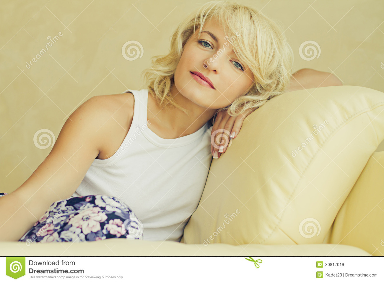 Free Sexmovie Blond Sofa Young Blond Woman Royalty Free Stock Images - Image: 30817019