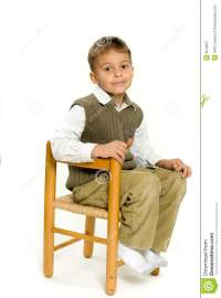 Young Boy Sitting In Chair Royalty Free Stock Photography ...