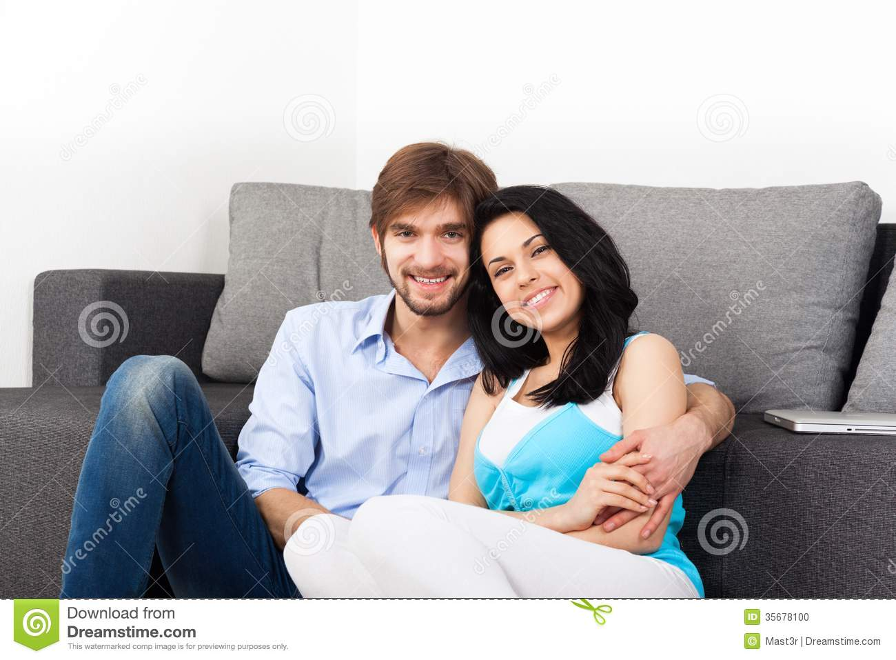 Young Couple Apartment Young Couple At Home Stock Photo Image 35678100