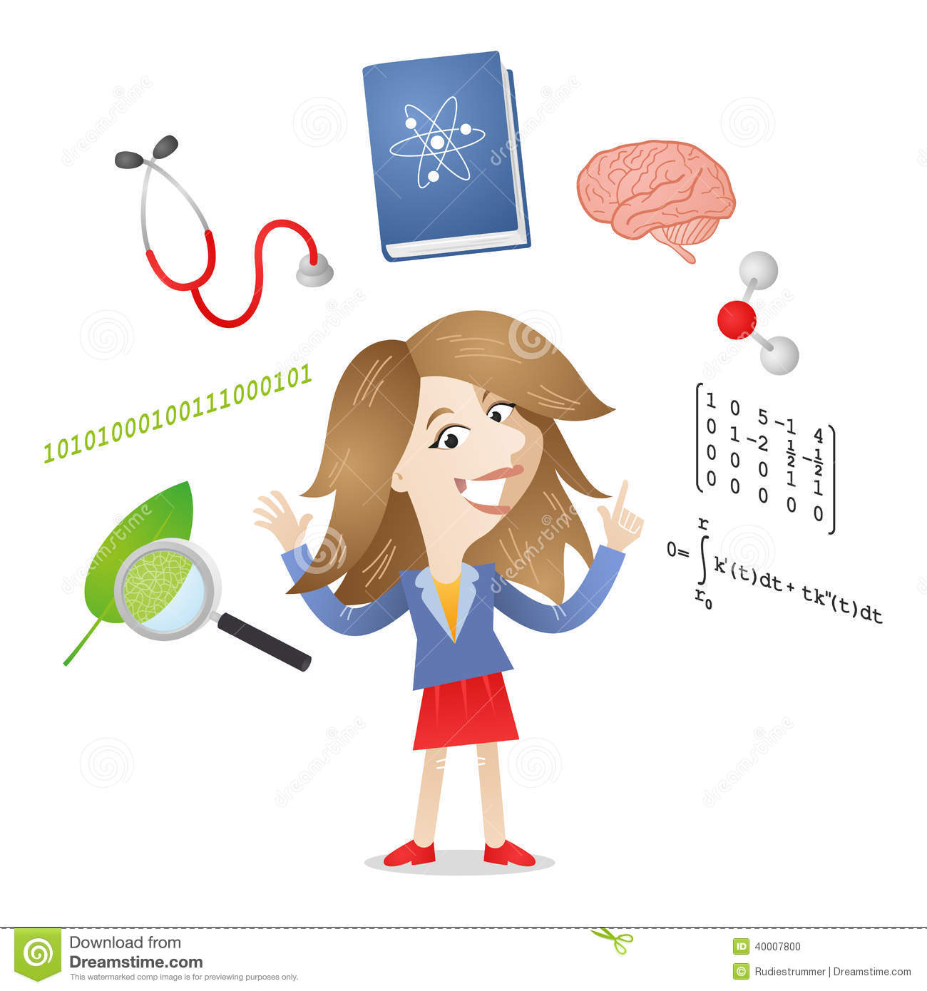 Persona 4 The Animation Wallpaper Young Student Science Symbols Stock Vector Illustration