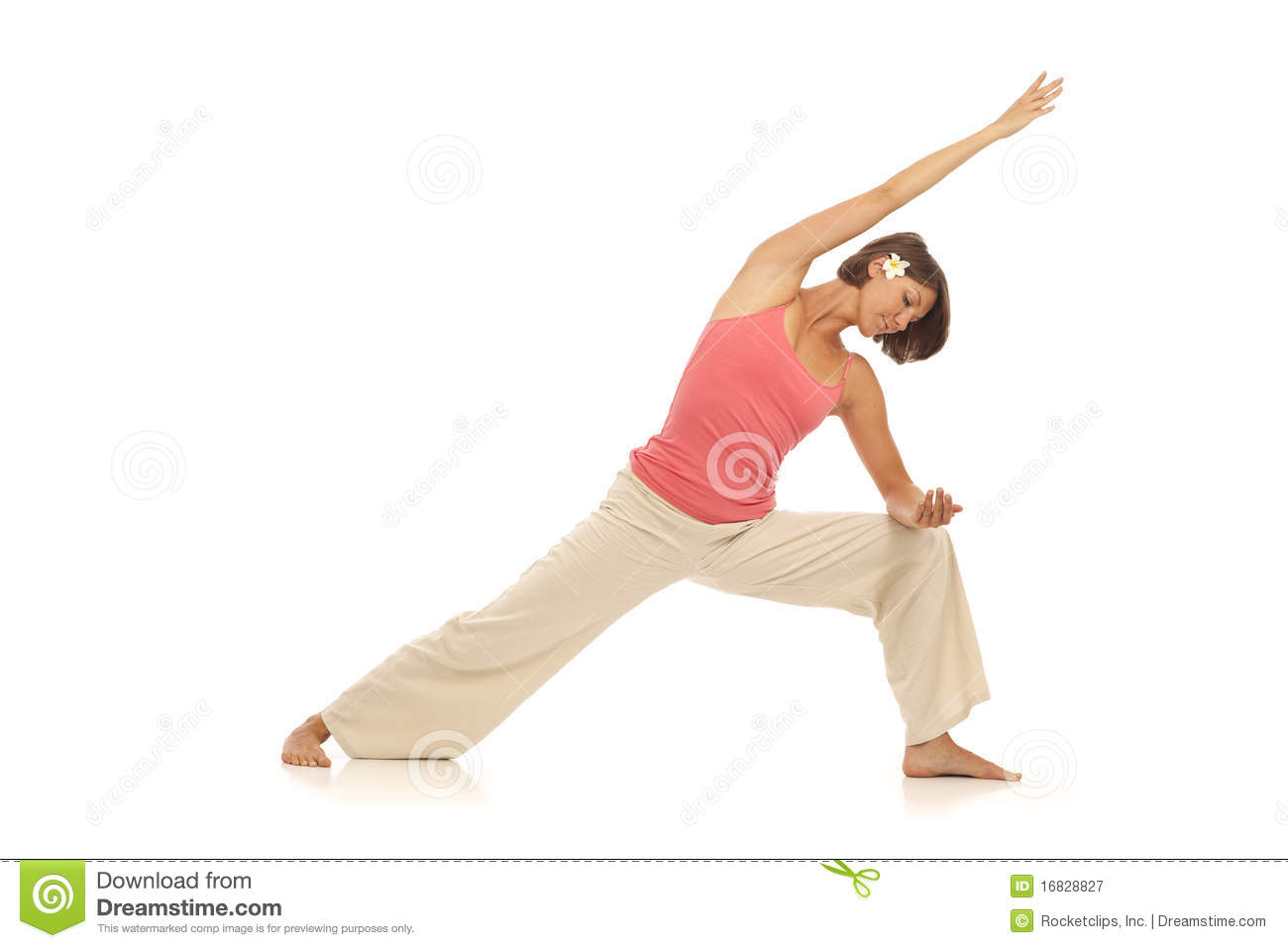 Fitness Winkel Young Woman Doing Yoga Side Angle Pose Stock Image Image