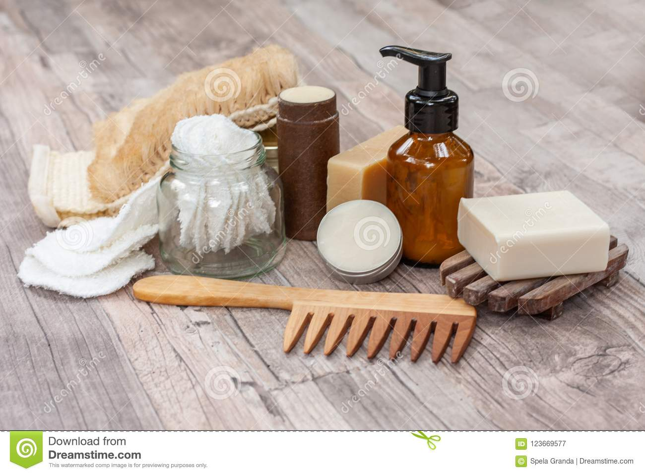 Natural Items For A Zero Waste Bathroom Stock Image Image Of Clean Natural 123669577