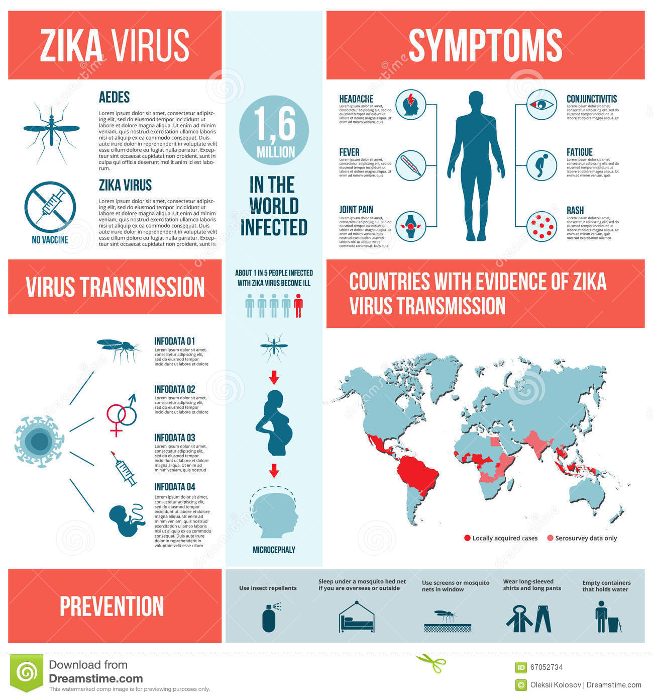 zika virus infographic