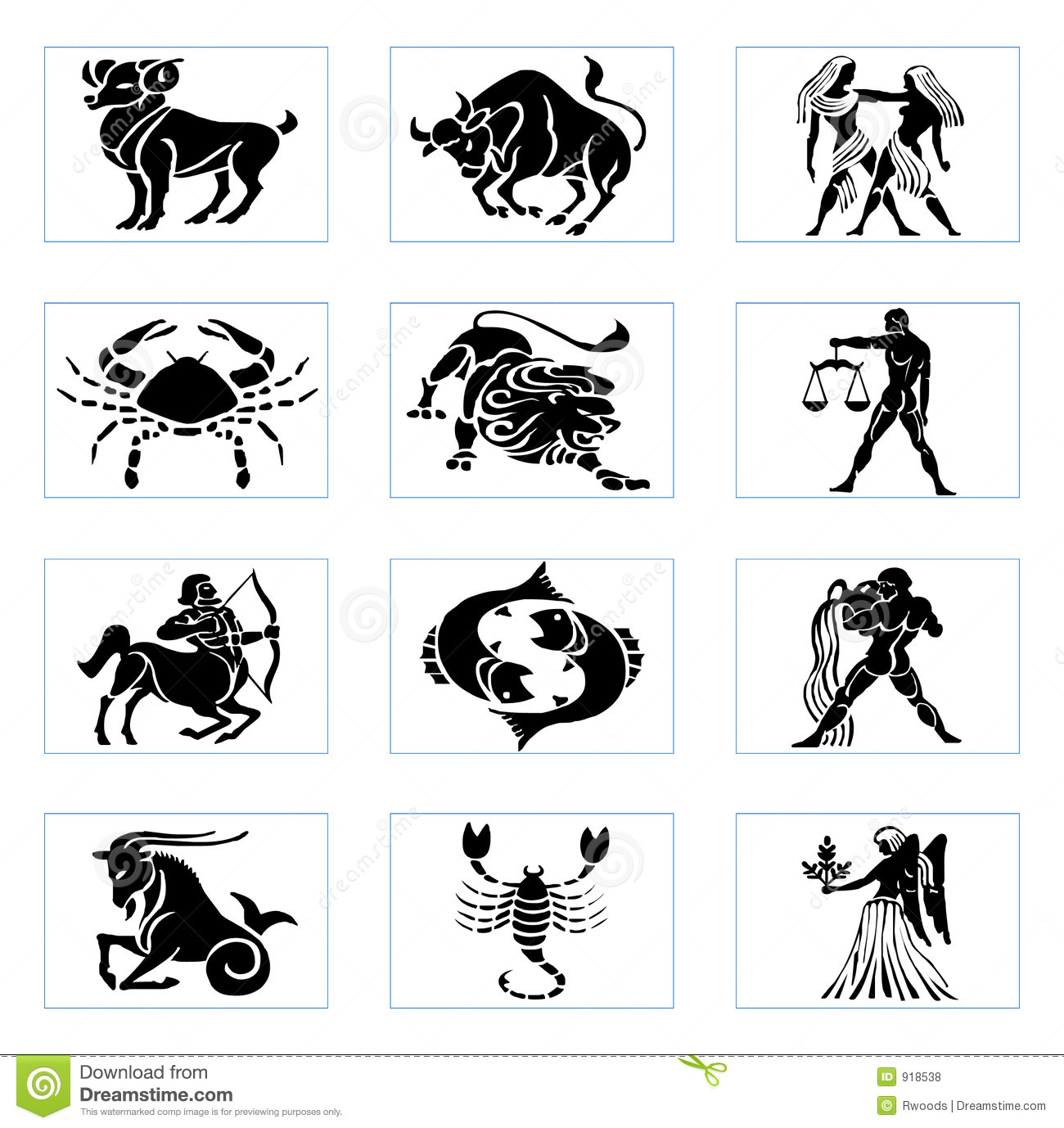 Zodiac Signs Zodiac Signs Stock Illustration Illustration Of Taurus 918538