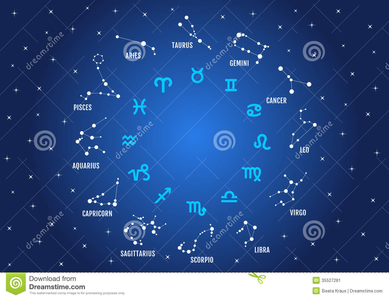 A To Z 3d Name Wallpaper Zodiac Signs Vector Icon Set Stock Image Image 35527281
