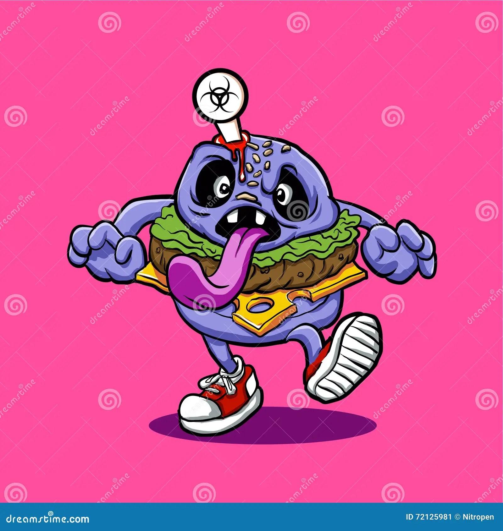 Cute Emoji Iphone Wallpapers Zombie Burger Cartoon Burger Stock Vector Image 72125981