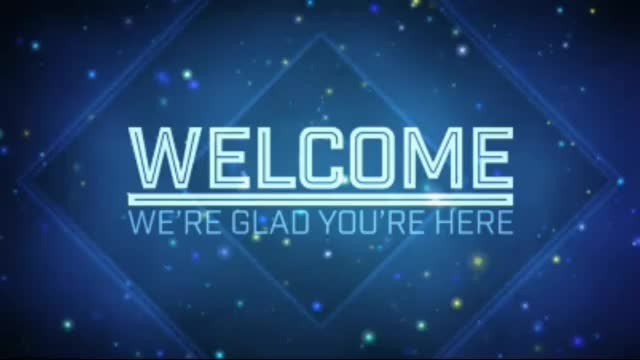 Welcome to Church Blue Background Motion Video Loops HD GIF Find