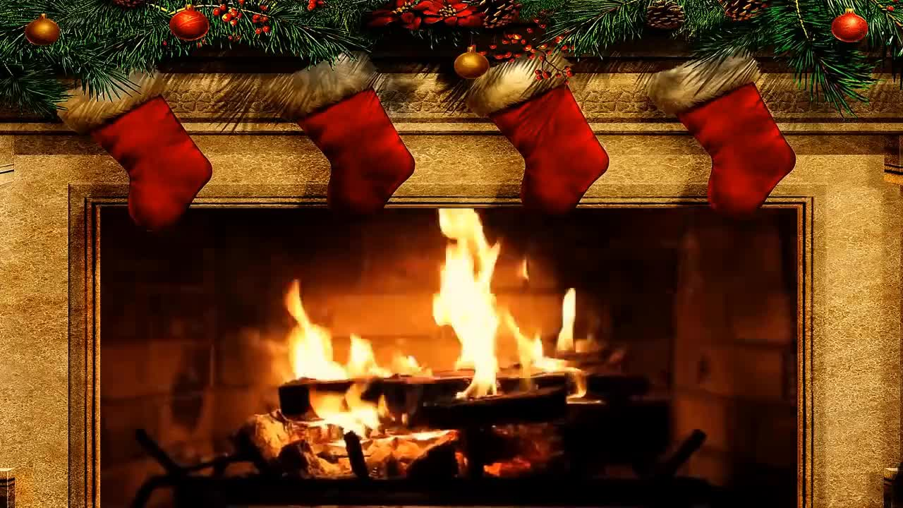 Fireplace Sounds Merry Christmas Fireplace With Crackling Fire Sounds Hd