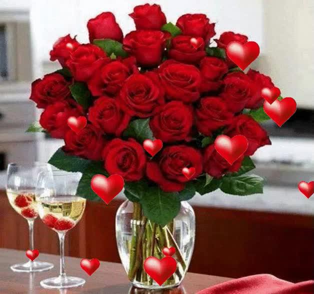 Imagenes con movimiento de rosas y corazones Find, Make  Share - rosas y corazones