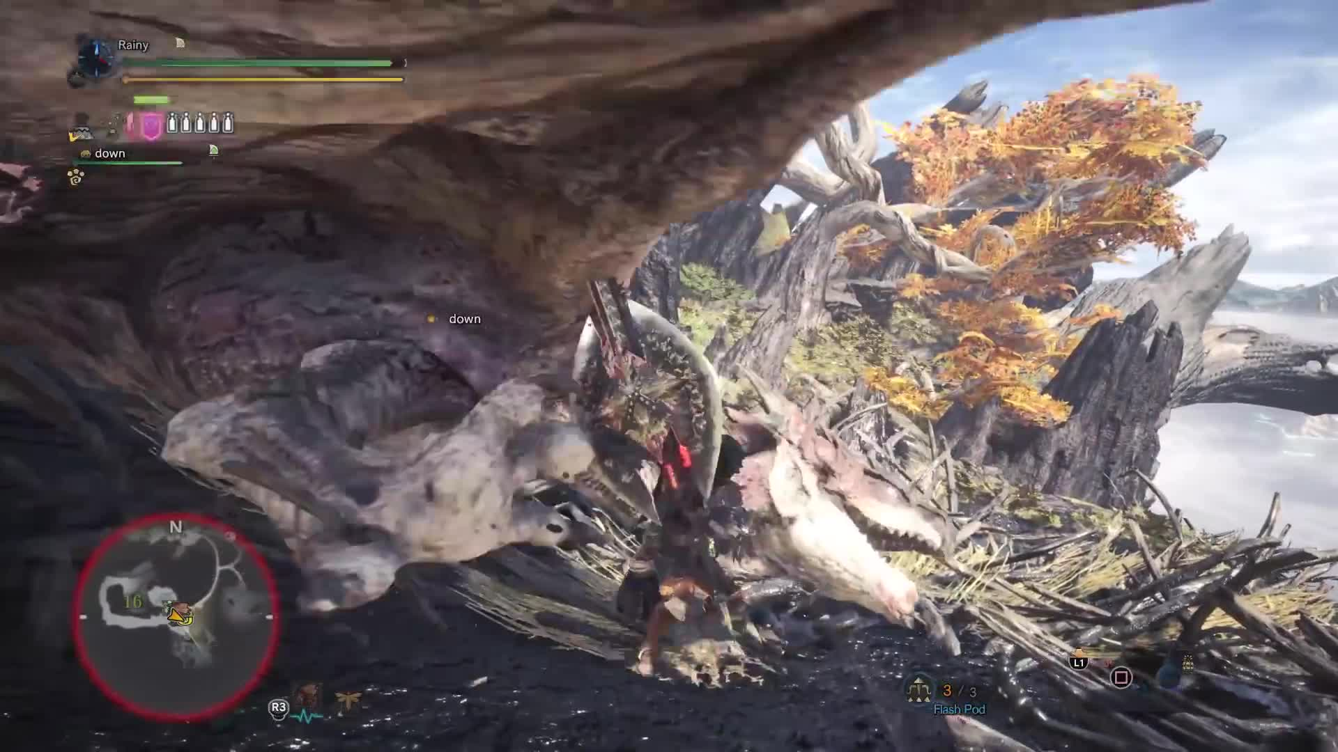 Crossbow Vs Roundup [mhw Beta] Bow Vs Nergigante Round 2 - 3'54'53 Gif By