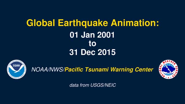 Animated map all earthquakes of the past 15 years GIF Find, Make
