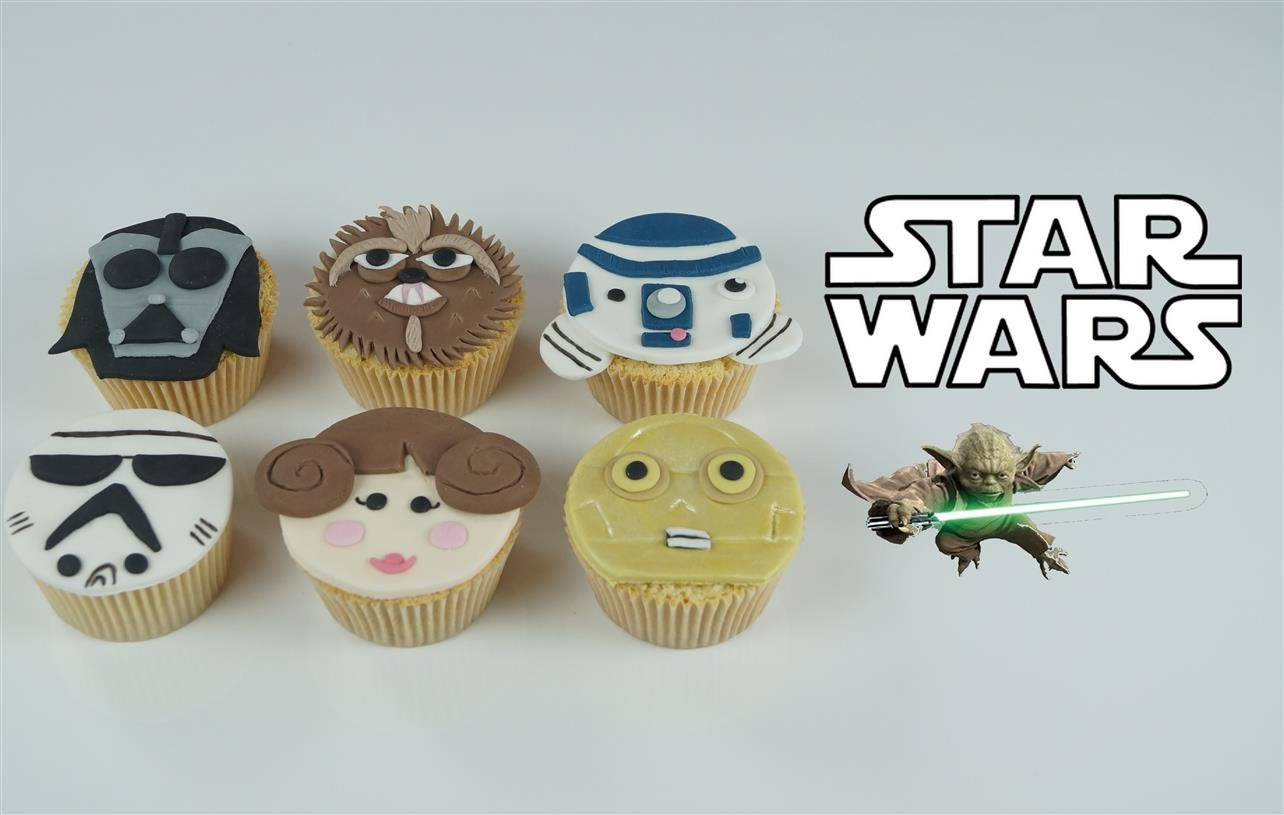 Decoration Pate A Sucre Cupcake Cupcakes Star Wars En Pâte à Sucre Cake Design Video By
