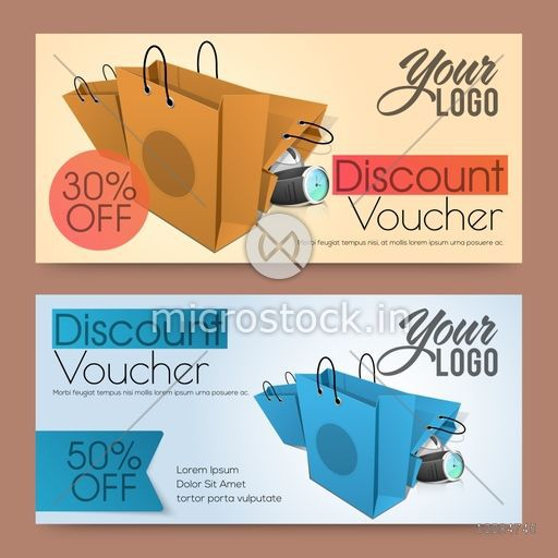Creative Discount Voucher, Gift Card or Coupon design with