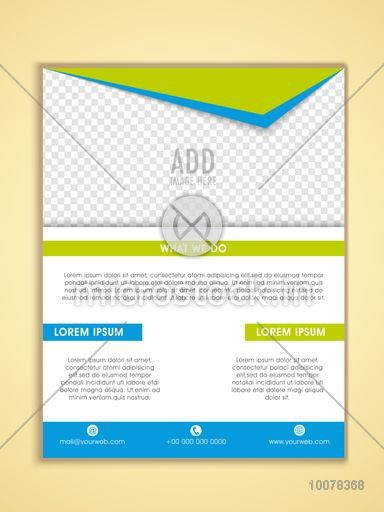 One Page Business Flyer, Banner, Pamphlet or Brochure with space for