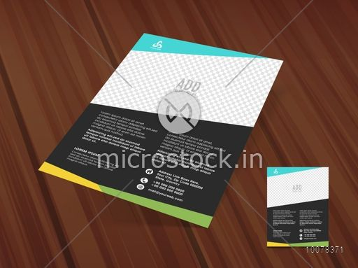 Stylish One Page Flyer, Banner or Pamphlet with image space for your
