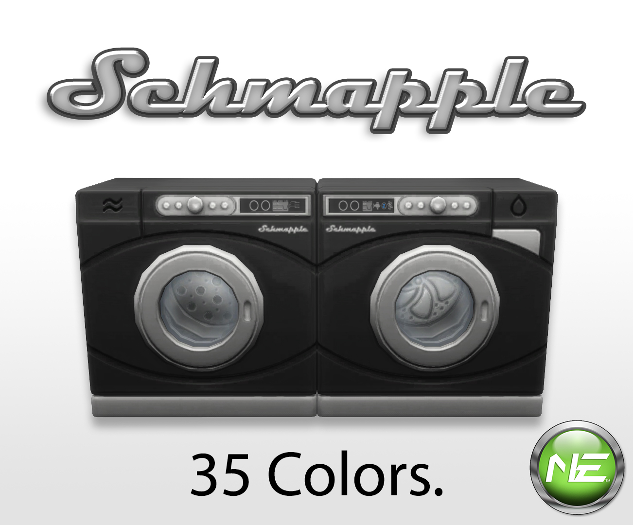 New Washer And Dryer Mod The Sims Schmapple Washer Dryer Overhaul 35 Colors
