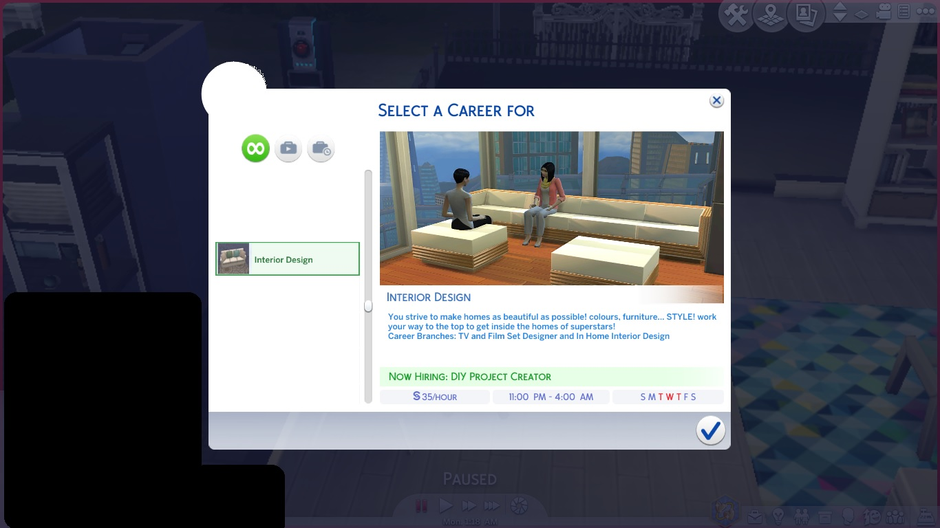 Interior Design Career Mod The Sims Interior Design Career Updated For April Patch