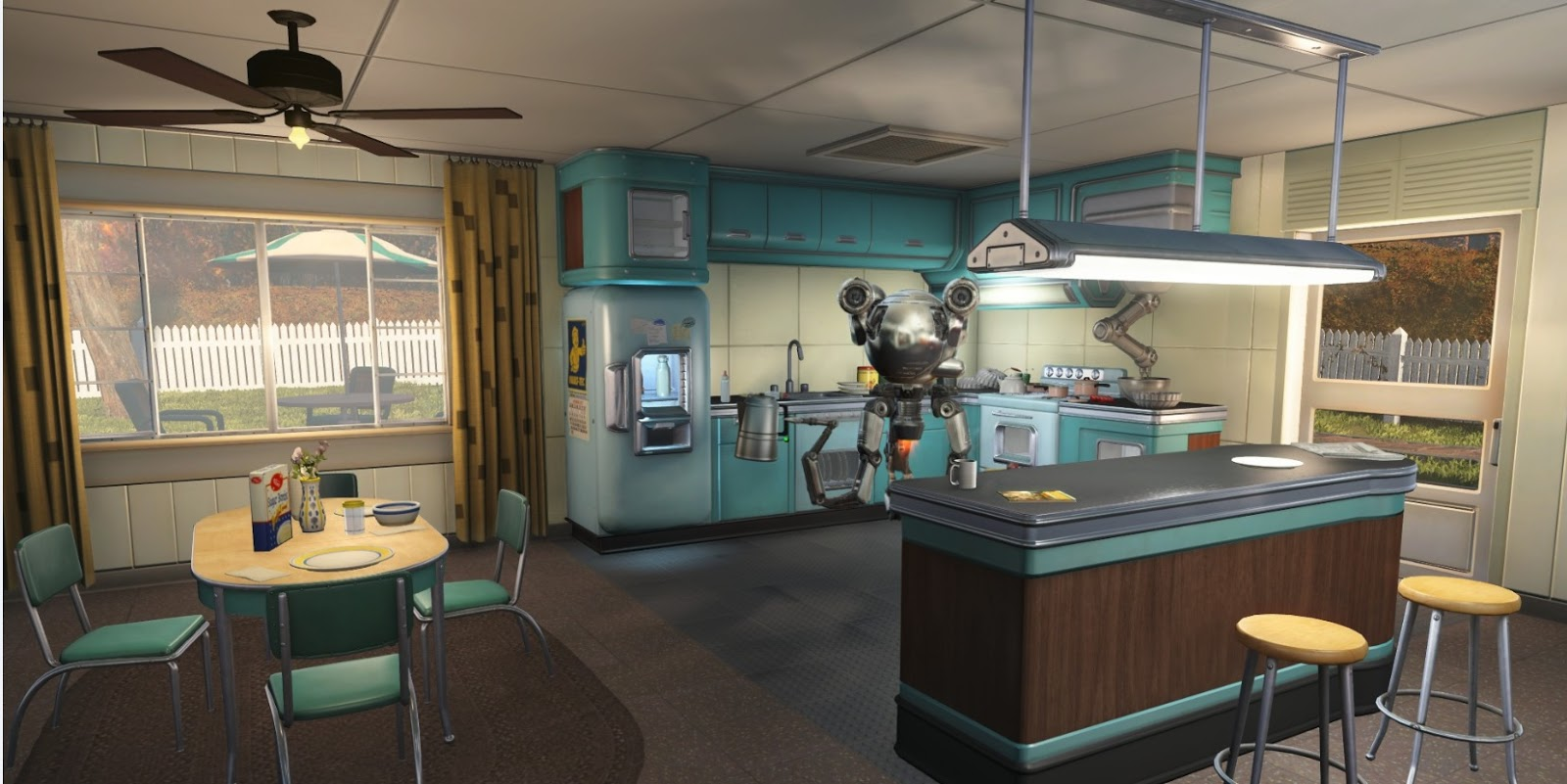 New Fall Creator Wallpaper Mod The Sims The House Of Tomorrow Fallout 4
