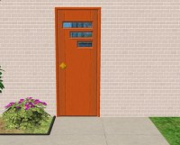 Mod The Sims - New Mesh: TresVisions Retro Front Door