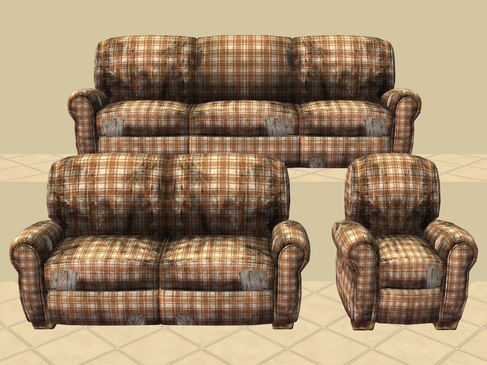 Plaid Bett Plaid Sofa And Loveseat Mod The Sims Really Distressed
