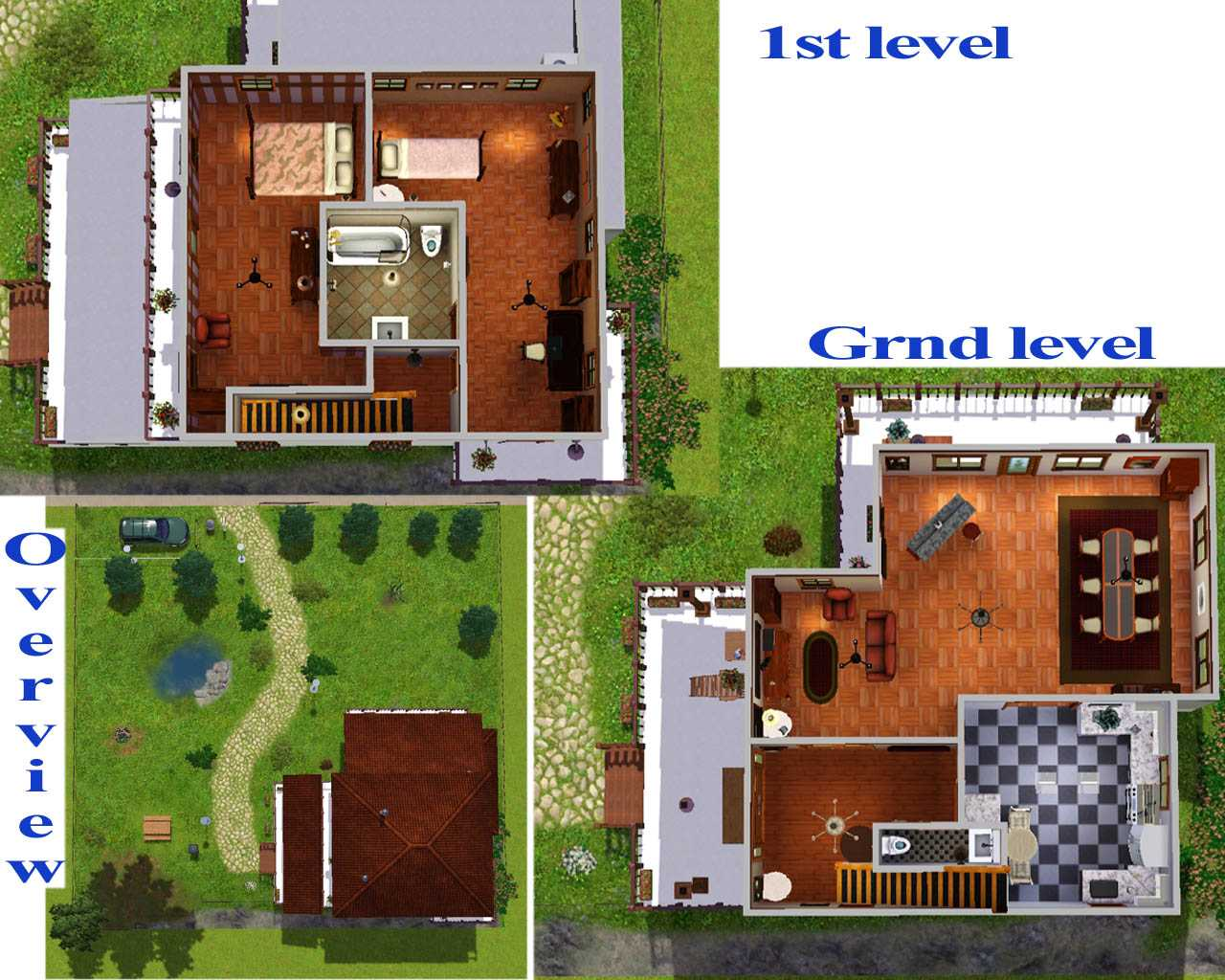 Plan De Maison Sims Mod The Sims Maison Choreau Classical Familly Cottage