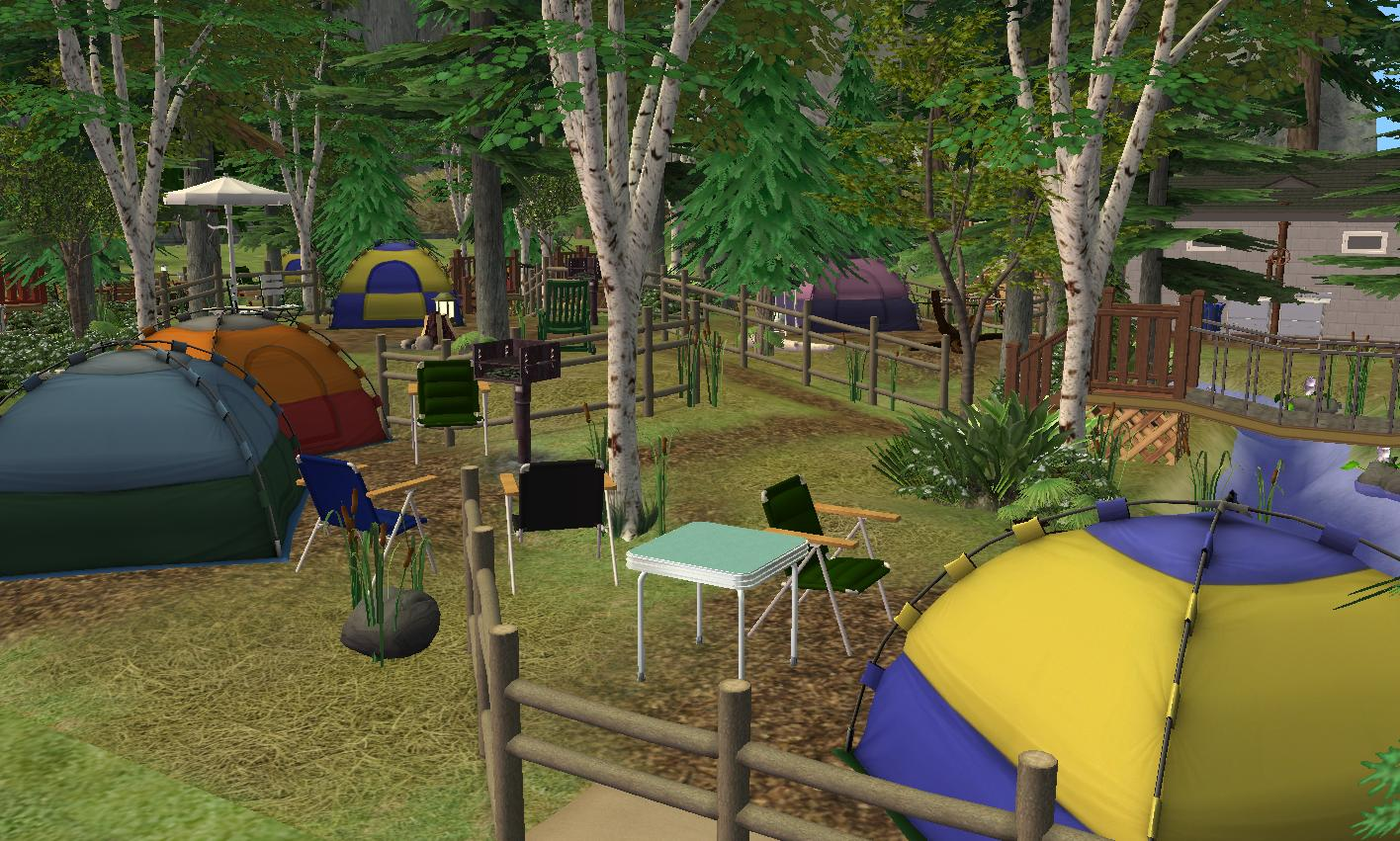 4 Camping Mod The Sims Elk Ridge Campground No Cc