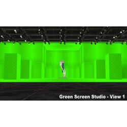 Small Crop Of Green Screen Paint