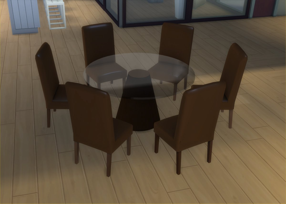 Modern Table And Chairs Mod The Sims Modern 6 Seater And 8 Seater Round Dining Table And