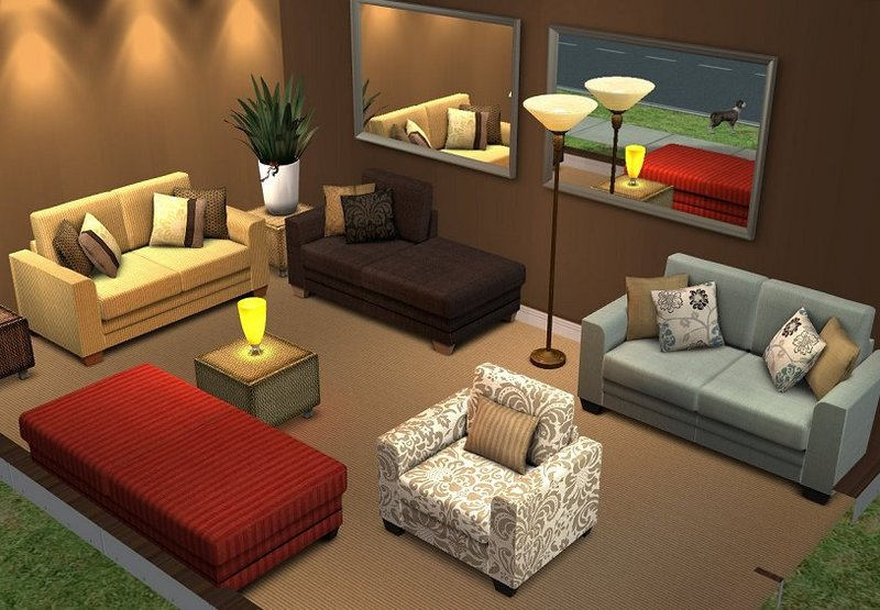 Build A Gaming Room Mod The Sims - Annie Modular Sofa Updated 22 Nov 2007