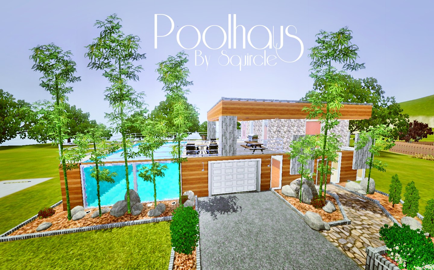Poolhaus Mod The Sims Poolhaus Eco Modern Base Family House