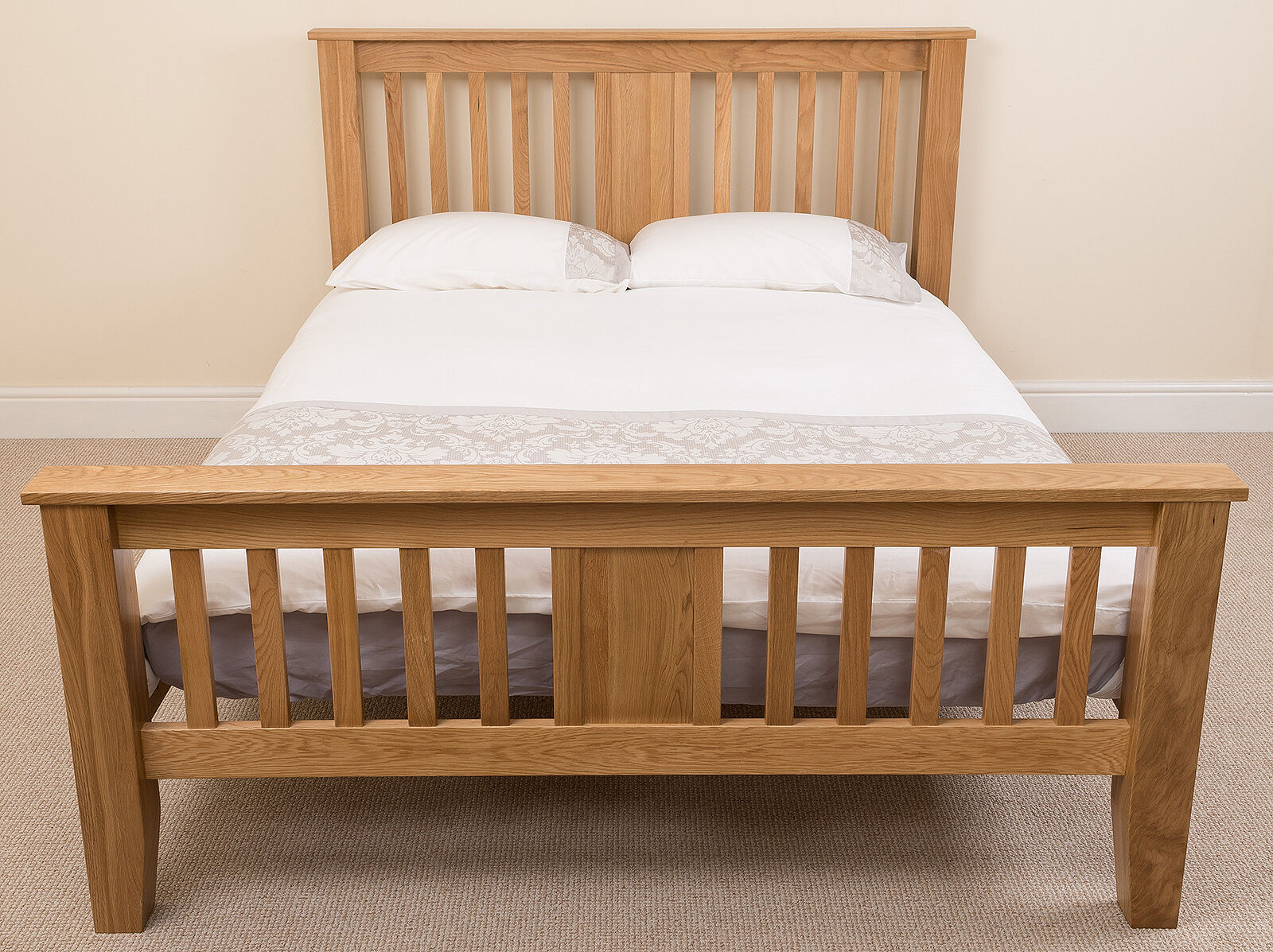 Super King Bed Frames Australia Boston Solid Oak Wood 6ft Super King Size Bed Frame Wooden