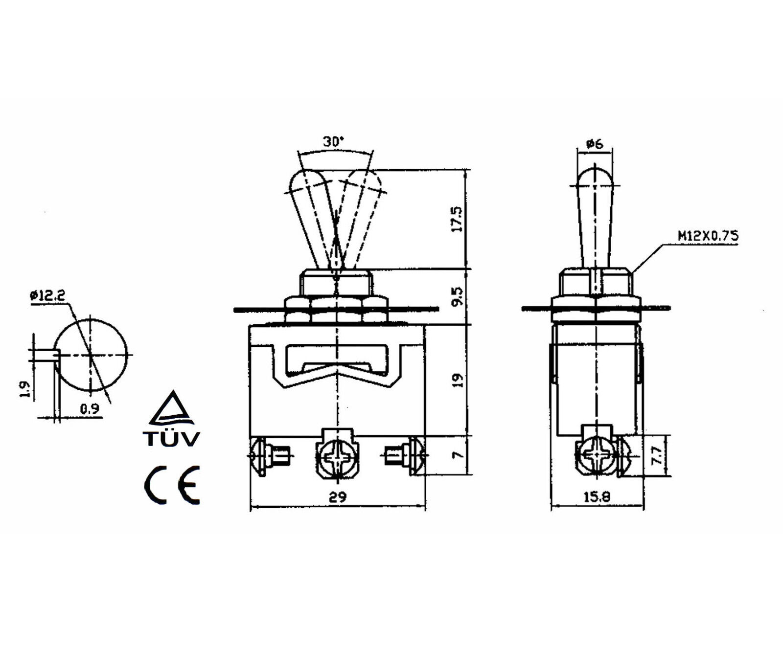 heavy duty toggle switch spdt onon