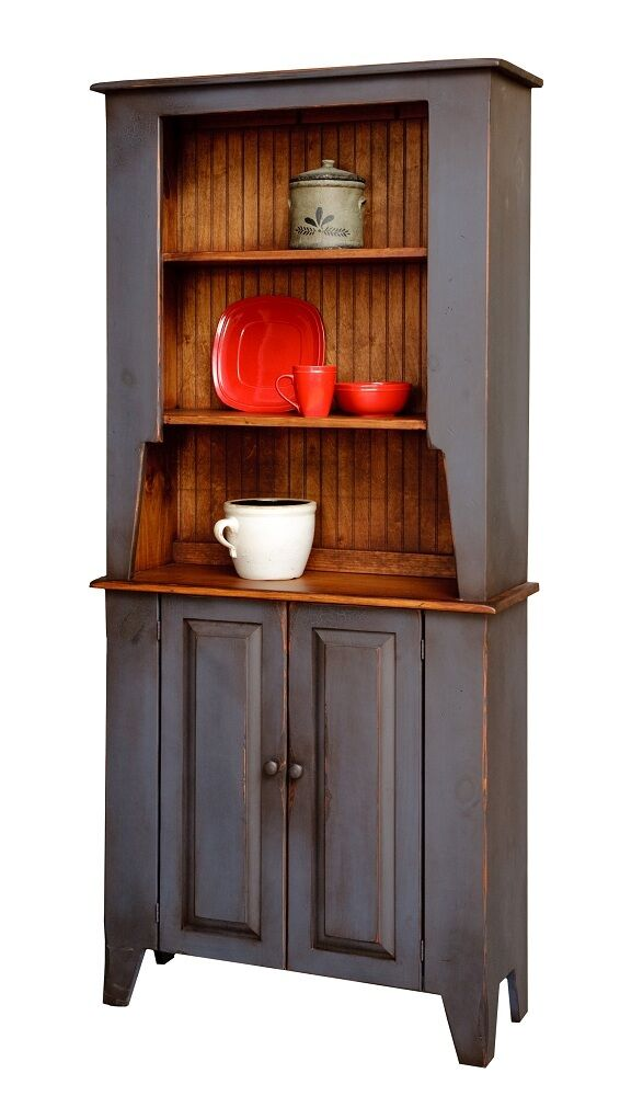 china cabinet hutch amish handmade custom finished country farmhouse open door hutch kitchen amish furniture connections