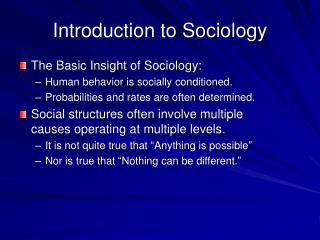 Ppt Introduction To Sociology Powerpoint Presentation - Tischler Introduction To Sociology