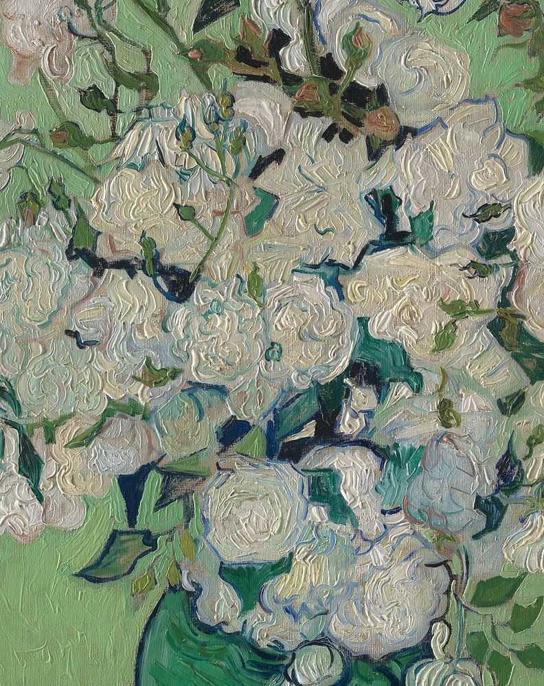 Behang Hollandse Meesters Stilleven Met Rozen In Vaas, Vincent Van Gogh Van