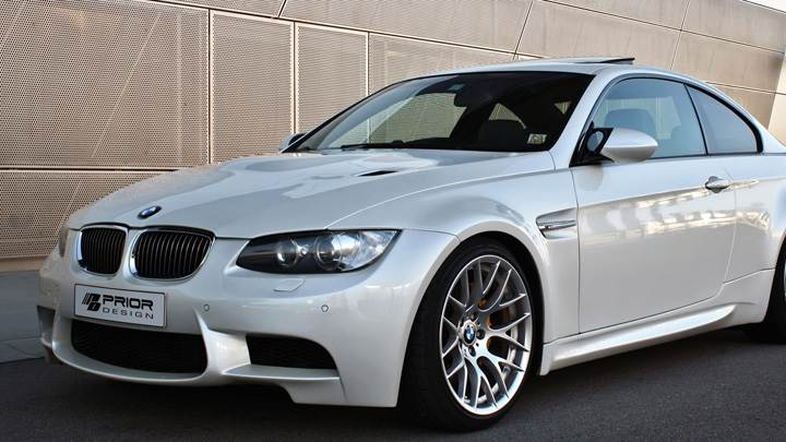 Side Front Pose Of Prior Design BMW E92 N E93 M3-Style Wide Body Kit
