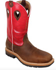 Twisted X Men's Red Waterproof Lite Cowboy Work Boots Composite Toe MLCCW01