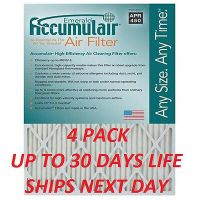 16X24X1 MERV 13 RATED ACCUMULAIR ALLERGY AIR FILTERS 6