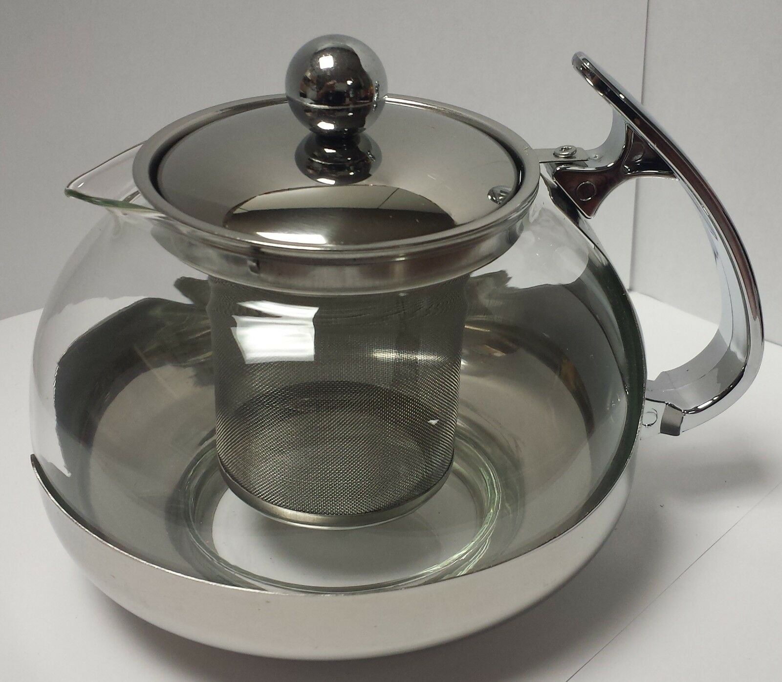 Tea Kettle With Strainer Stainless Steel Glass Tea Pot Teapot W Stainless Steel