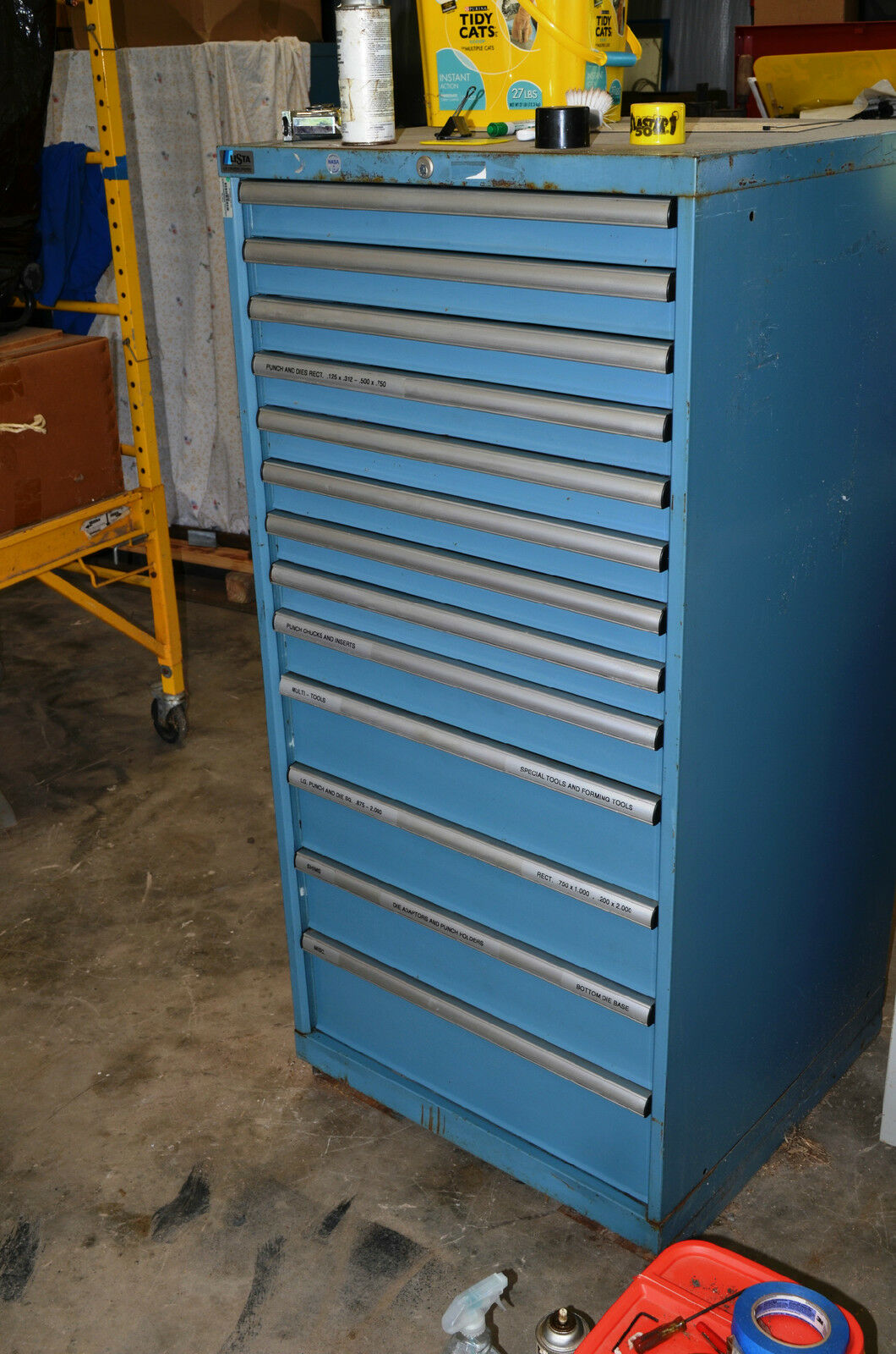 Lista Tool Cabinet 13 Or 14 Locking Drawers For Punch Mill