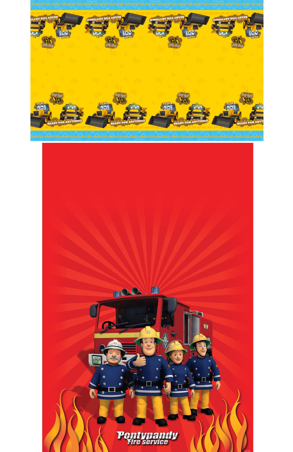 Fireman Sam My 1st Jcb Plastic Table Covers Party