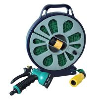50Ft Flat Garden Hose Pipe Reel 15M Hosepipe With 7 Dial ...
