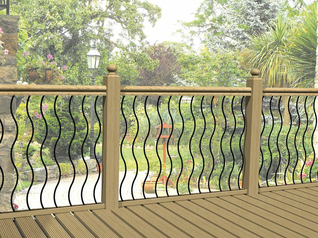 Decking Panels Decking Railing Panels Fencing Infill Rails Steel Balustrade