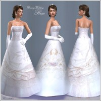 Mod The Sims - Flowery Wedding * Bridal Gowns