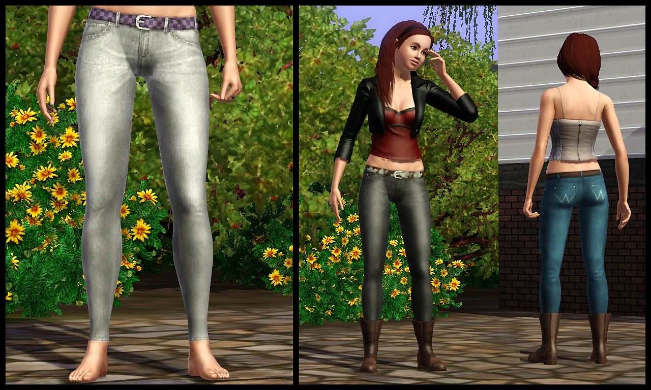 Mod The Sims Jeans That Fit Into Boots All Ages Both