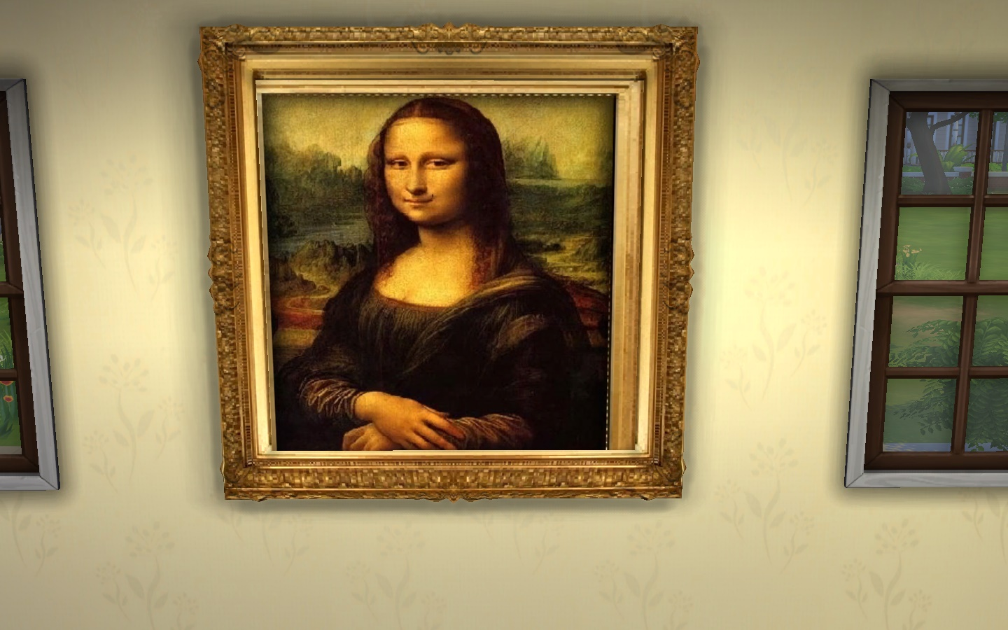 Cuadro La Mona Lisa Mod The Sims Mona Lisa By Leonardo Da Vinci
