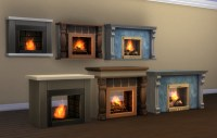 Mod The Sims - 2-Sided and Adjustable Height Wall Fireplaces