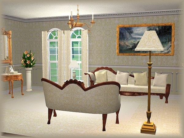 "Victorian Coffee Table Mod The Sims - ""voiles Du Sud"" Set Recolors : Victorian"