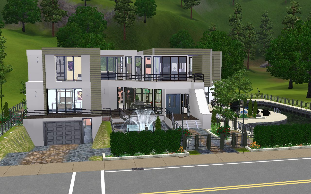 Capital Coast Kitchens Mod The Sims 2400 Pinochle Drive Modern Luxury Home
